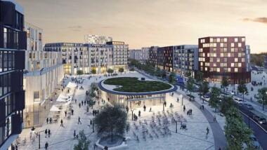 Detaljplan antagen för tunnelbanestation i Barkarbystaden