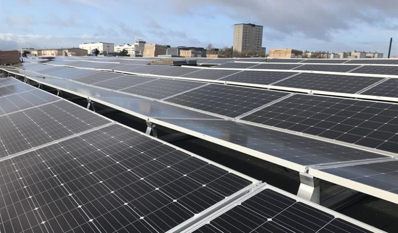 Ombyggt kvarter har Malmös största solcellsanläggning