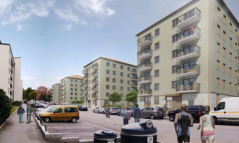 Skanska bygger Stockholmshus i Farsta Strand