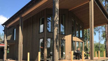 Brand- och skadesäker forskarvilla i trä står klar