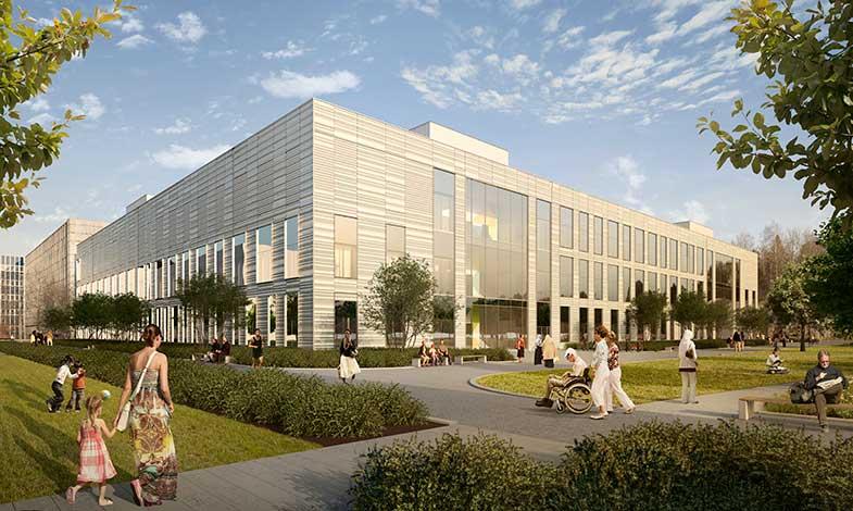 Miljöbyggnad guld till ny behandlingsbyggnad i Huddinge