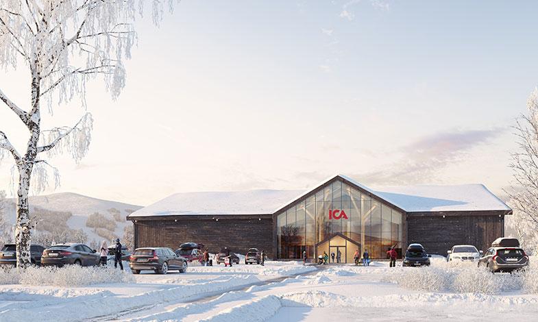 ICA Fastigheter bygger sin första butik helt i svenskt trä