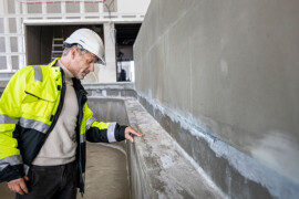 Klimatförbättrad betong i Kungsbackas badhus