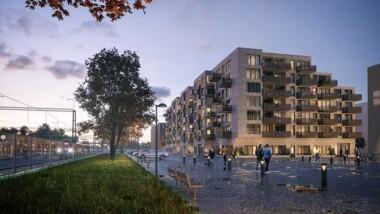 Fasader i återvunnet tegel pryder nytt bostadskvarter i Kävlinge