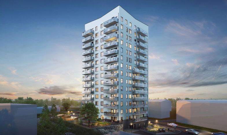 Byggstart för 15-våningshus i Bandhagen