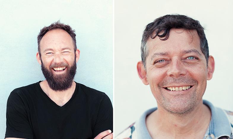 Anders Lendager och Esben Pedersen, kommunikationsansvarig.