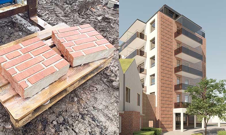 Helsingborgshem återbrukar material från rivningshus