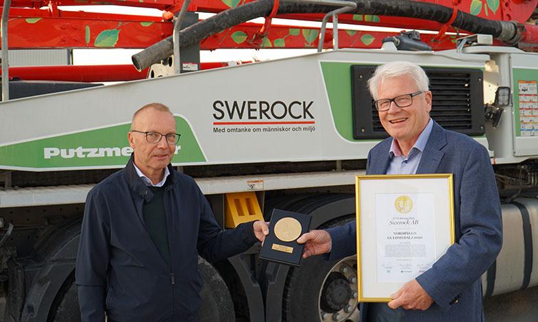 Swerocks ECO-Betong vinner Nordbyggs Guldmedalj