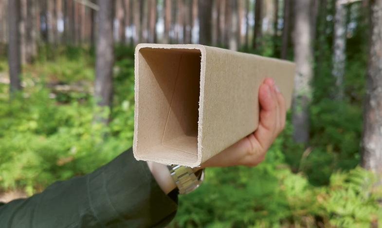Byggregel av papper minskar klimatavtrycket