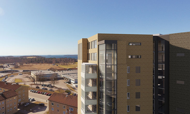 NCC bygger 15-våningshus med hyresrätter i Motala
