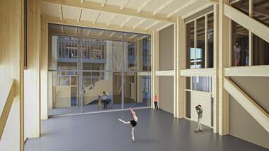 Flexibel träkonstruktion prisades under arkitekttävling