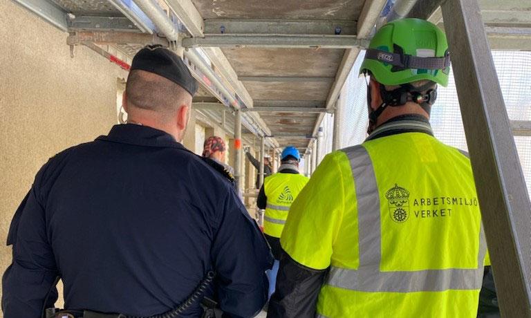 Nationell kontrollinsats avslöjar farlig arbetsmiljö på byggen
