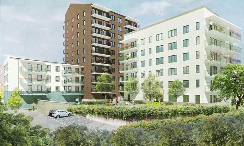 HMB bygger 64 nya bostäder i södra Stockholm