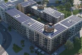 Byggstart för netto-nollenergihus i Täby Park