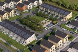 Byggstart för Skanskas klimatneutrala radhus i Malmö