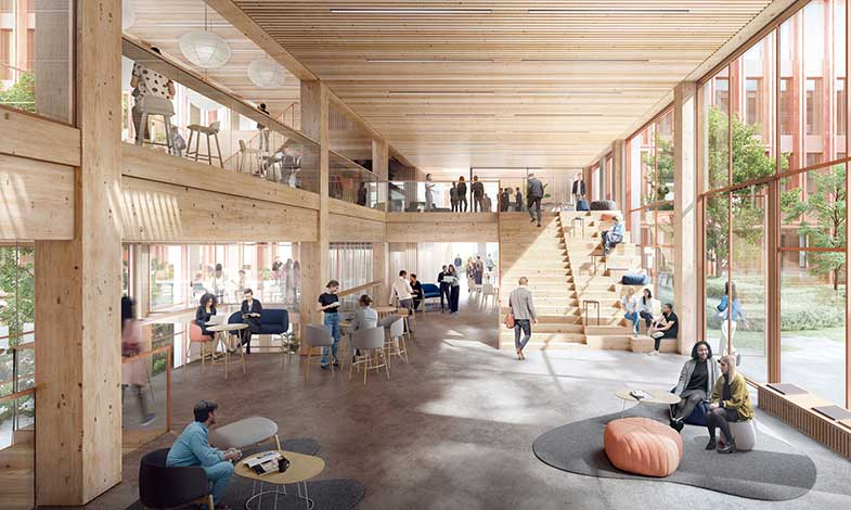 C.F. Møller vinner kontorsuppdrag med träkonstruktion