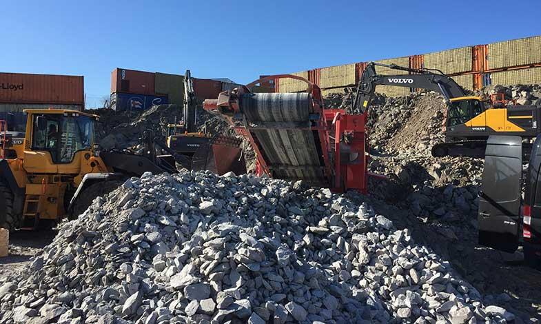 Bergmaterial från tunnelbanebygge blir nya gator