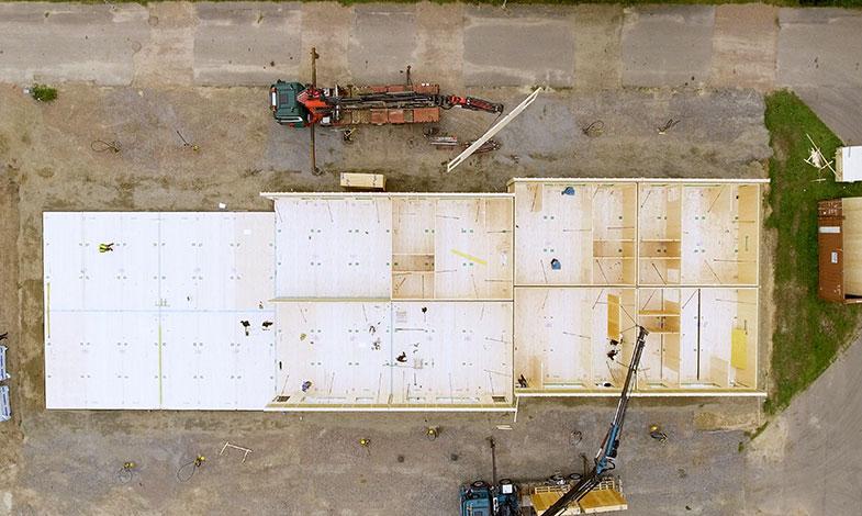 Södra och Klara Byggsystem prefabricerar radhus